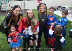 Super Hero's Group Halloween Costumes