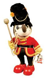 """Drum Major"""" Doll, by Knickerbocker Toys. Mickey Mouse Doll, Vintage Mickey Mouse, Mickey Mouse And Friends, Mikey Mouse, Vintage Toys, Dolls, Disney Princess, Antiques, Disney Characters"""