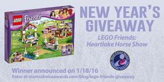 We're giving away this 335-piece LEGO Friends Heartlake Horse Show set! Visit our blog to enter! #giveaway