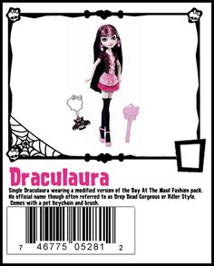 Day at the Maul - Draculaura with pet keychain  AKA Drop Dead Gorgeous  AKA Killer Style