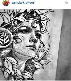 Sam Clark #tattoo #tats #ink #tatouage #dots #line #draw #blackworker #drawing #graphic
