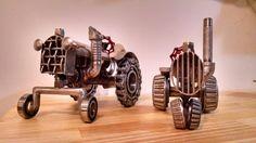 Steampunk tractor metal art by Jesse Rannings