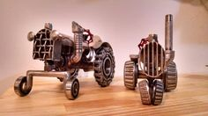 Steampunk tractor metal art by Jesse Rannings