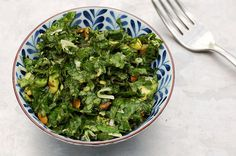 Avocado Kale Salad with Lemon Coconut Dressing