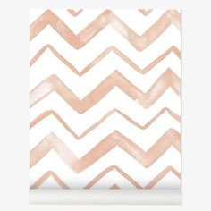 Lilipinso Chevron Koraal Behang