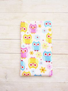 Owls mobile phone cell phone pocket in pastel colors by poppyshome, $11.50