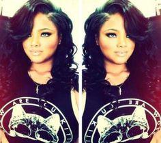 50 Sew-In Hairstyles for Black Women 50 Sew-In Hairstyles for Black Women Long Weave Hairstyles, Sew In Hairstyles, Black Women Hairstyles, Hairstyles 2016, Love Hair, Great Hair, Gorgeous Hair, Beautiful, Locks