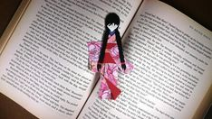 Japanese Origami, Japanese Paper, Book Lovers Gifts, Gift For Lover, Cute Bookmarks, Red Packet, Geisha Art, Light Crafts, Floral Kimono