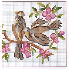 Cross Stitch Bird, Cross Stitching, Cross Stitch Alphabet Patterns, Create A Board, Christmas Embroidery Patterns, Craft Patterns, Needlework, Arts And Crafts, Kids Rugs