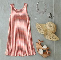 Perfect summer vacation outfit.