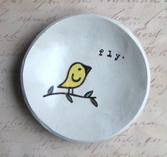 Fly Little Birdie Bowl by elmstudiosonline on Etsy, $18.00