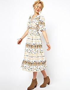 vintage floral midi dress - Google Search