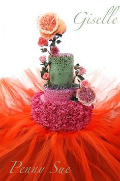 Giselle - Cake by Paola Manera- Penny Sue Buttercream Cake, Fondant Cakes, Cupcake Cakes, Gorgeous Cakes, Amazing Cakes, Ruffle Cake, Ruffles, Cool Birthday Cakes, Novelty Cakes