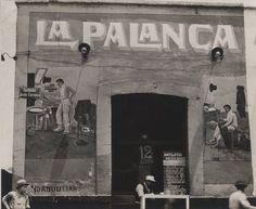 """""""La palanca"""" en la calle de Jesús Carranza, en el año de 1924."""