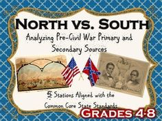 Analyzing Pre-Civil War primary and secondary sources.  Perfect for 4th-8th graders.