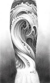 Wave tattoo- the name Laine means 'wave' in Finnish, and Dunlop means 'fortress at the bend'. I think I'll come up with something gnarly using the two name descriptions...