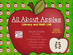 All About Apples Unit and FREEBIE!