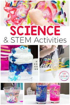 Exciting science activities that your kids will love! These simple science experiments and STEM activities are sure to engage and excite your kids. Science Experiments For Preschoolers, Cool Science Experiments, Preschool Science, Fun Activities For Kids, Science For Kids, Stem Activities, Science Projects, Science Ideas, Educational Activities