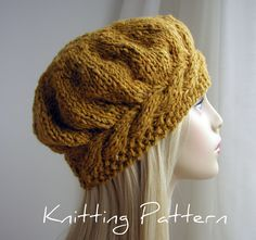Easy Knitting Hat Patterns | KNIT PATTERNS BERET « http://www.craftsy.com/pattern/knitting/accessory/weekend-cable-beret/3287