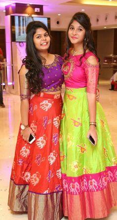 New Dress Indian Style Hair Ideas – Tepe Time Lehenga Designs, Salwar Designs, Half Saree Designs, Saree Blouse Designs, Half Saree Lehenga, Saree Dress, Anarkali, Lehenga Gown, Frock Dress