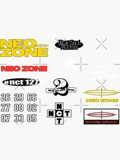 NCT 127 - NEO ZONE MERCHANDISE Macbook Decal Stickers, Pop Stickers, Printable Stickers, Nct 127 Mark, Mark Nct, Nct Logo, Empathy Quotes, Kpop Phone Cases, City Wallpaper