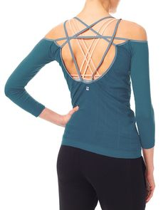 Vitality Dance Top - SeaGlassTeal | long sleeved tops | Sweaty Betty