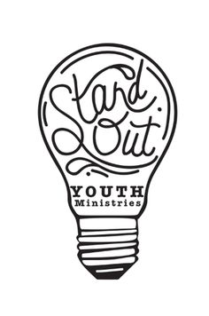 logo creation for Stand Out Youth Ministries from Port Arthur Texas. Hand drawn logo. light bulb theme.