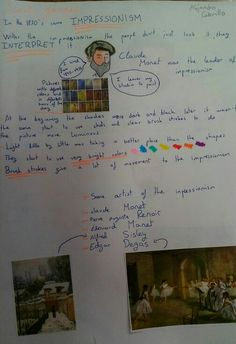 Alex's notes about Impressionism... Great job!