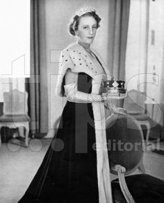 A belle epoque diamond tiara, being worn by Lady Delamere to Queen Elizabeth's Coronation in 1953, Ruth Ashley, as she was known before her marriage, was sister to Edwina Ashley, Countess Mountbatten.