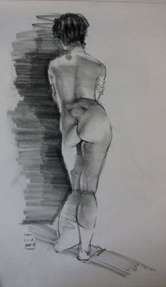 Figure and Head studies in charcoal, graphite, pen and paint.. - Page 3