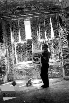 Andy Warhol's Factory East 47th St nyc. Silver everywhere!
