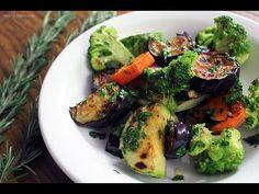 Salada de legumes grelhados - YouTube
