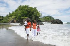 Fun Family Portrait Photography - Manuel Antonio Beach, Costa Rica - by John Williamson