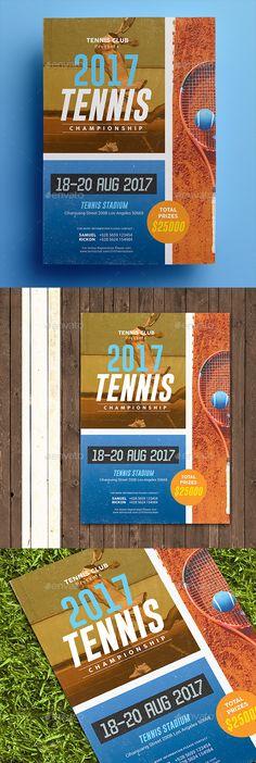 Tennis #Championship #Flyer - Sports Events Download here:  https://graphicriver.net/item/tennis-championship-flyer/19779728?ref=alena994