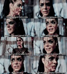 "#The100 4x10 ""Die All, Die Merrily"" -  Octavia"