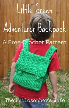 Little Green Adventurer Backpack: A Free Crochet Pattern