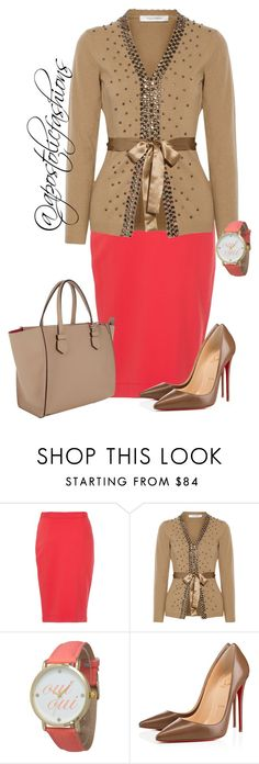 """Apostolic Fashions #910"" by apostolicfashions on Polyvore featuring French Connection, Valentino, Olivia Pratt, Christian Louboutin and Moreau"