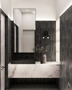 COZOON on Behance Bathroom Design Inspiration, Bad Inspiration, Modern Powder Rooms, Modern Room, Foyers, Powder Room Design, Toilet Design, Bathroom Design Luxury, Interiores Design