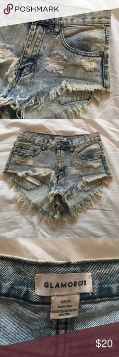 GLAMOROUS Ripped Shorts GLAMOROUS Ripped shorts cheeky. Size xs. Worn once great condition Glamorous  Shorts Jean Shorts