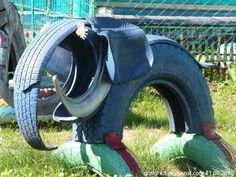 . . . . . How to Recycle: Animal Craft from Tires