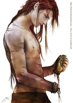 Maedhros - A Spare hand by =brilcrist on deviantART  I love this character with all the feels.