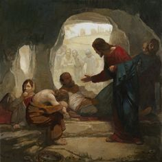 Christ among the lepers by Carl Bloch