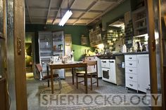 SHERLOCK (BBC) ~ 221B Baker Street set: Sherlock's kitchen