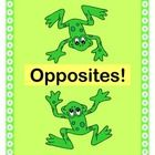 """TWO LITTLE FROGGIES"" - A FUN WAY TO TEACH THE CONCEPT OF ""OPPOSITES""!  Play a GROUP GAME for active learning!  Make a FROGGIE CRAFT with your kids.  Then play a LANGUAGE DEVELOPMENT GAME where the kids supply the rhymes from CONTEXT CLUES.  Work with up-down, near-far, slow-fast, light-heavy, quiet-loud, asleep-awake -- and whatever your kids want to add!  Great alternating movements for brain development.  (7 pages)  Bring your learning to life with Joyful Noise Express TpT!  $"
