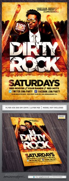 band flyer templates