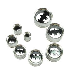 Cheap piercing tunnel, Buy Quality piercing plug directly from China plug piercing Suppliers: Ear Expander piercing Stainless Steel Bat Batman Screwed Ear Expander Plugs hollow 1 Pair Ear plugs body piercings Ear Tunnels, Tunnels And Plugs, Body Jewelry, Jewelry Sets, Jewellery, Expansion, Ear Gauges, Body Piercings, I Tattoo