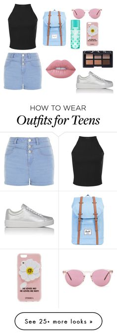 """""""Summer Pastel"""" by southfashion19 on Polyvore featuring New Look, Prada Sport, Herschel Supply Co., Oliver Peoples, Iphoria, Lime Crime and NARS Cosmetics"""