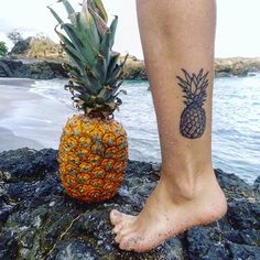 Pin for Later: 25 Totally Tropical Tattoos That'll Make It Summer All Year Round Petite Pineapple