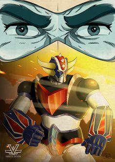Robot Cartoon, Cartoon Kunst, Cartoon Art, Japanese Robot, Japanese Cartoon, Arte Robot, Robot Art, Super Robot Taisen, Big Robots