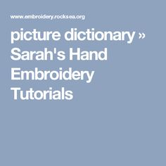 AMAZING encyclopedia of embroidery techniques. Tons of examples of various stitches with instructions available by clicking on pictures.